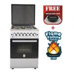Standing Cooker, 58cm X 58cm, 3 + 1, Electric Oven, Half Inox