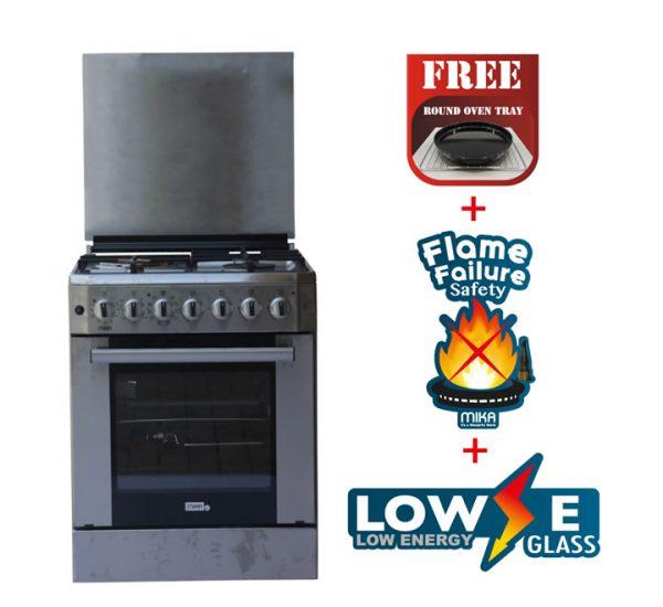 Standing Cooker, 60cm X 60cm, 3 + 1, Electric Oven, Half Inox