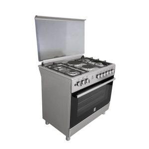 Standing Cooker, 90cm X 60cm, 4 + 2, Electric Oven, Half Inox