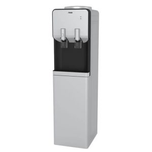 Water Dispenser, Standing, Hot & Electric cooling, Silver & Black